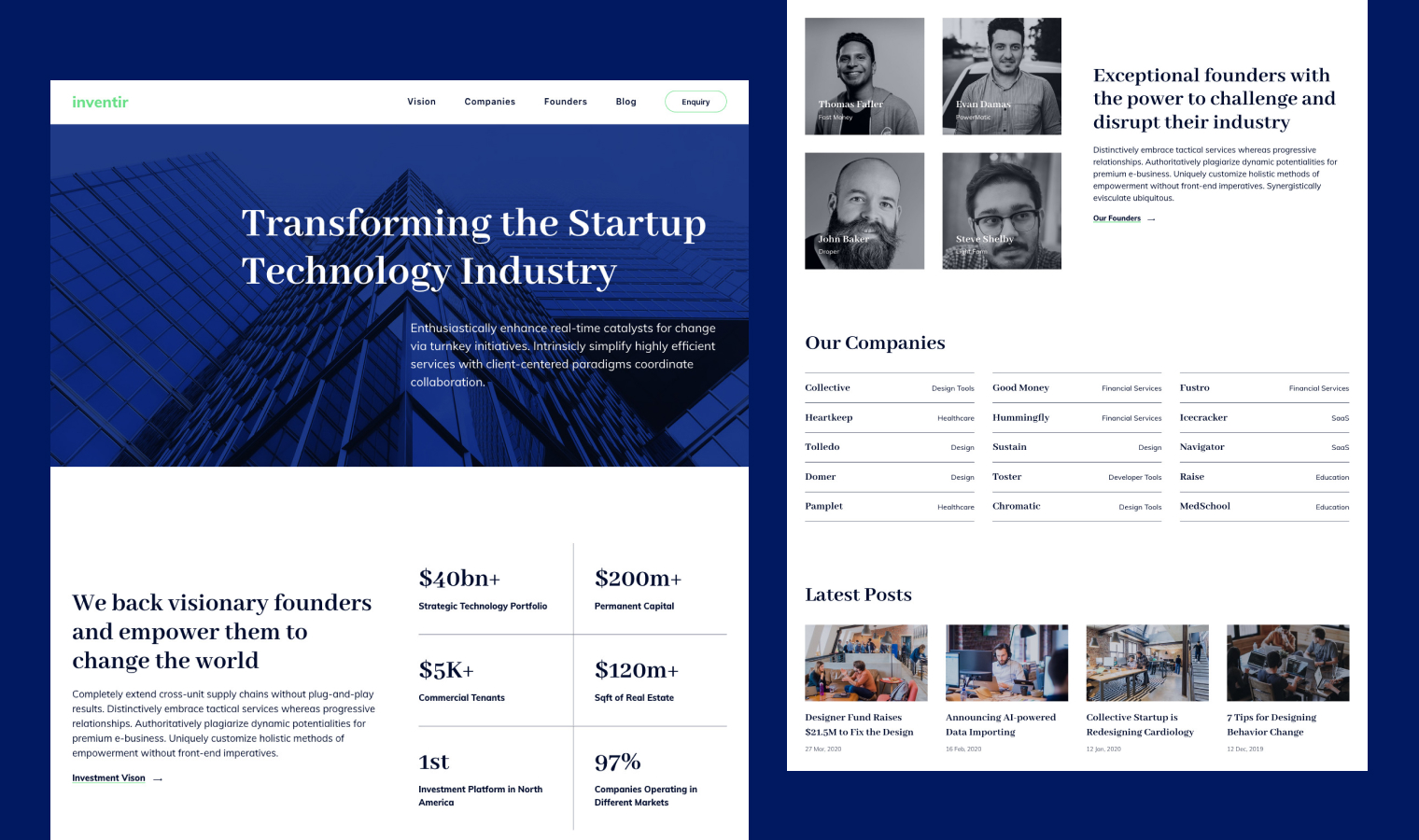 Inventir Business Investor Template