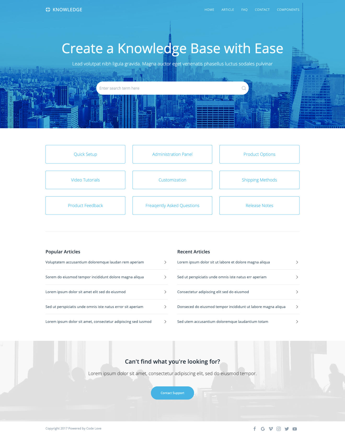 Knowledge Base HTML5 Template