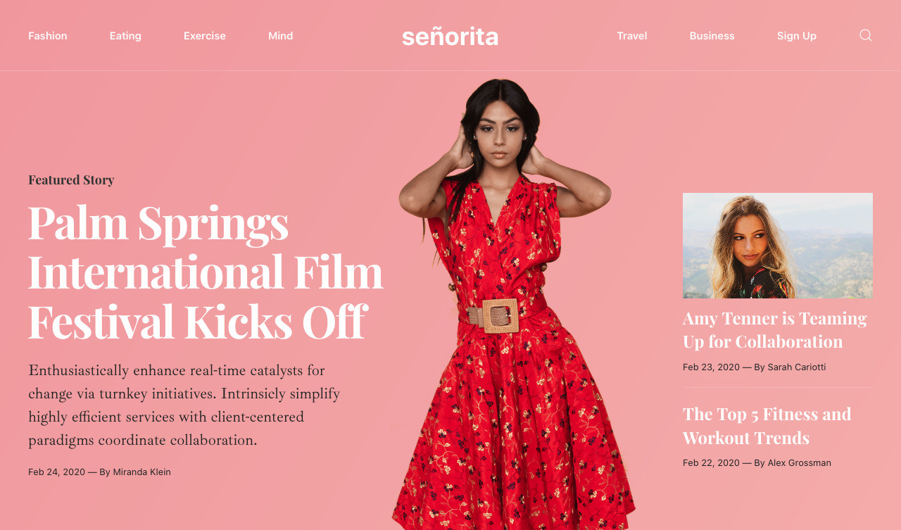 Senorita Magazine & Blog Template