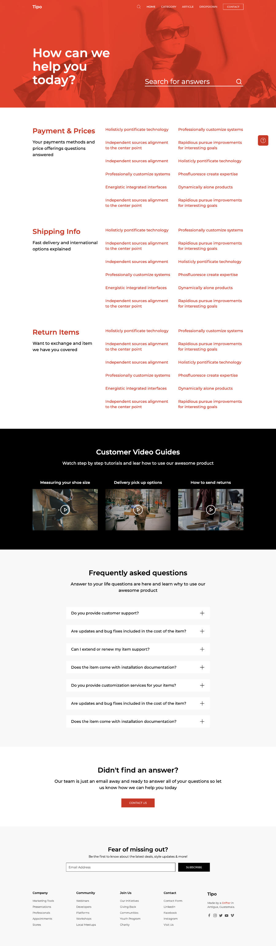 Tipo Helpdesk HTML5 Template